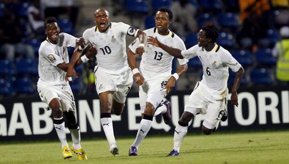Ghana venció gracias a un gol en el alargue del partido. (Reuters)