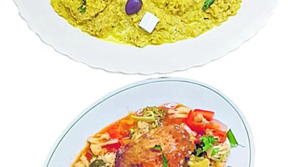 Quinua guisada con pollo y verduras