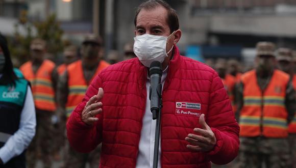 """Walter Martos indicó que su sector planta que el toque de queda sea """"diferenciado"""" en el país. (Foto: Ángela Ponce)"""