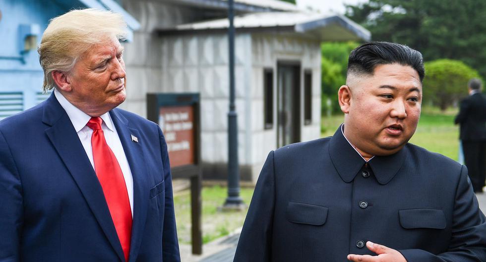 Imagen de archivo. Donald Trump y Kim Jong-un en su histórico encuentro del 30 de junio del 2019. (Foto: Brendan Smialowski / AFP).
