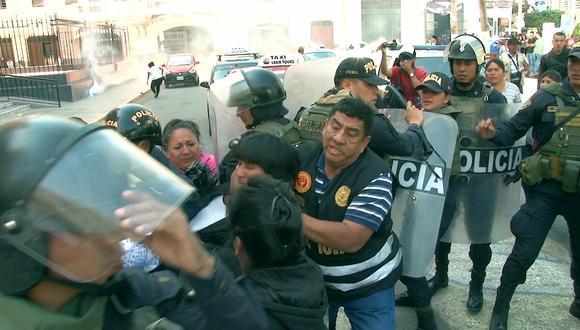 Hubo enfrentamientos con los agentes del orden.