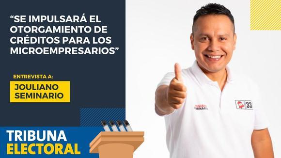 Jouliano Seminario candidato al Congreso por Victoria Nacional