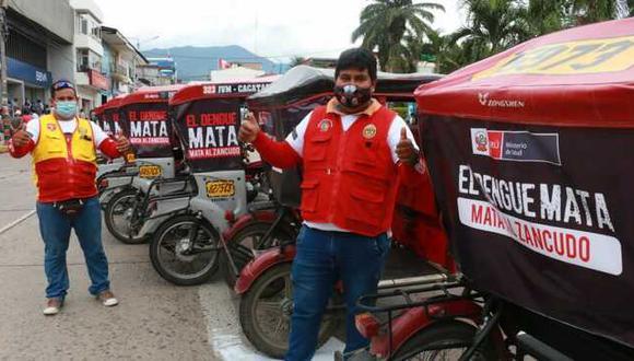 San Martín: Más de 1000 mototaxistas difundirán mensaje contra el dengue por toda la región (Foto: Minsa)