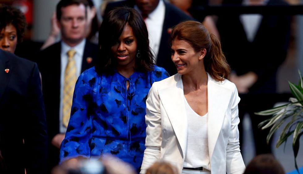 """Juliana Awada sobre Michelle Obama: """"Me compartió su historia, me dio consejos y me inspiró"""". (EFE)"""