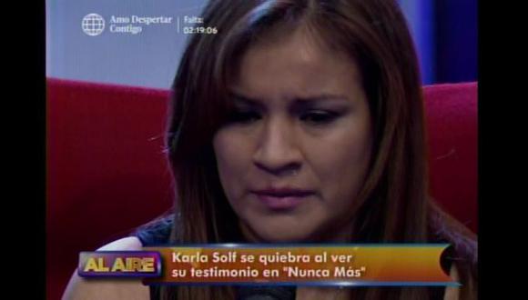 Karla Solf reconoció que Ronny García sí la agredió (Captura de video)