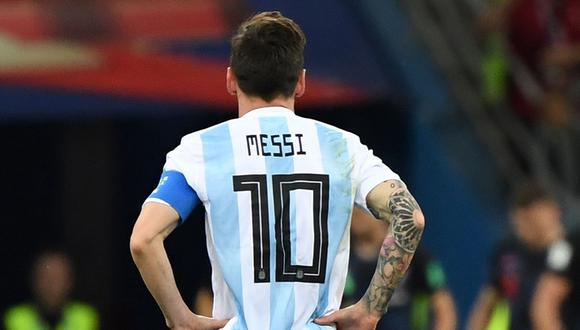 Argentina reservará la camiseta 10 de Lionel Messi hasta que defina su situación. (Foto: AFP)