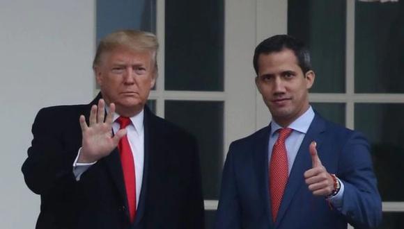 Donald Trump recibió a Juan Guaidó en febrero de este año en la Casa Blanca. (AFP).