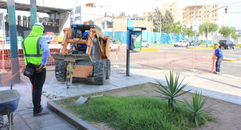 Los trabajos empezaron con la rehabilitación de veredas, que en su totalidad alcanzan una extensión de 8 mil metros cuadrados. (Foto: Municipalidad de Lima)