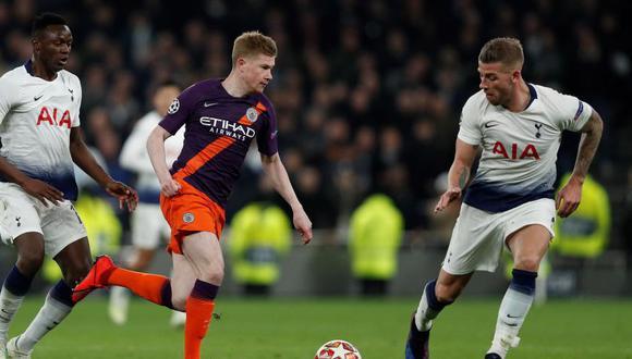 Manchester City y Tottenham definirán al clasificado a las semifinales de Champions la próxima semana. (Foto: AFP)