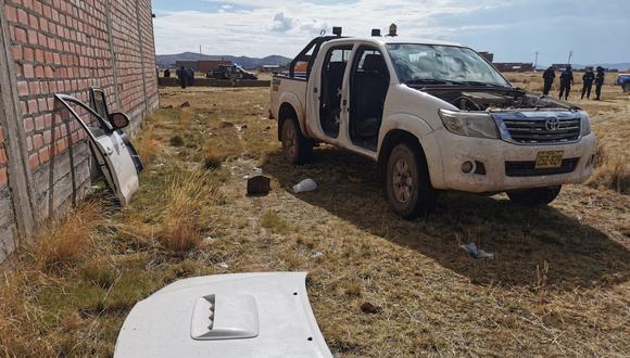 Puno: Vecinos de la zona alertaron que un grupo de sujetos desconocidos se llevaban autopartes de la camioneta de la víctima. (Foto: GEC)