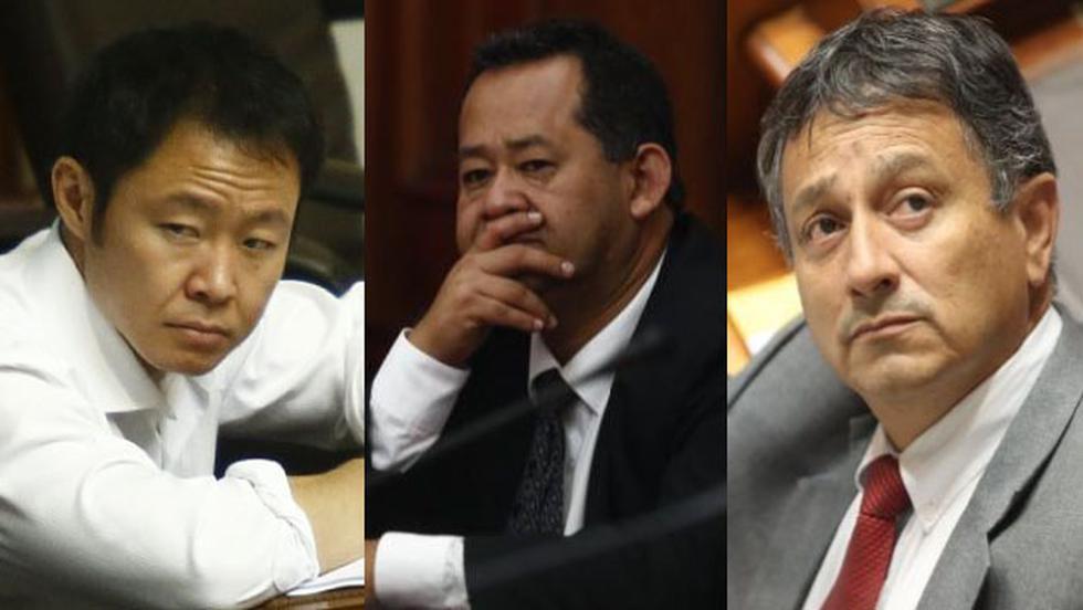 Recomiendan desafuero de los congresistas Kenji Fujimori, Guillermo Bocángel, Bienvenido Ramírez.