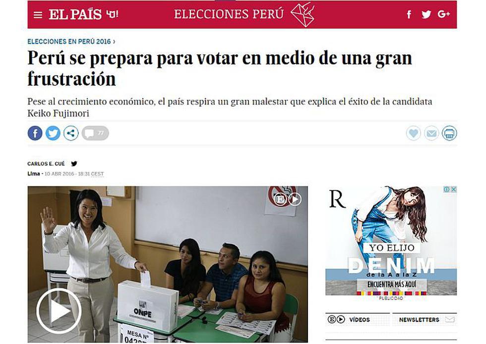 Elecciones 2016: Así se presentan los comicios en el ojo de la prensa extranjera. (El País)