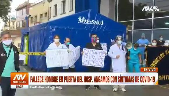 Hombre con síntomas de COVID-19 fallece en puerta del Hospital Angamos. (ATV)