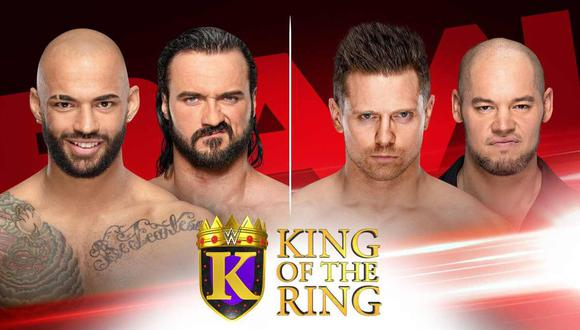 WWE Raw: el torneo King of the Ring continuará en esta edición de la 'marca roja'. (Foto: WWE)