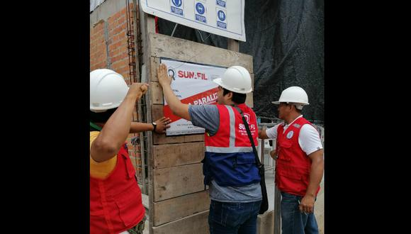 Sunafil paralizó dos obras debido a que vidas de trabajadores corrían peligro para falta de herramientas y medidas de seguridad en Ucayali. (Foto: Sunafil)
