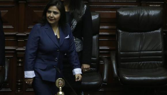 Jara explicó la política general del gobierno ante el pleno del Legislativo. (Nancy Dueñas)