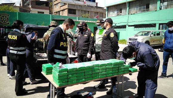 Junín: La droga de alta pureza estaba camuflada en tres compartimientos ubicados en la tolva de la camioneta. (Foto: PNP)