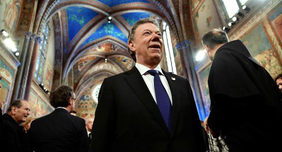 Juan Manuel Santos es el Nóbel de la Paz de este 2016. (AFP)