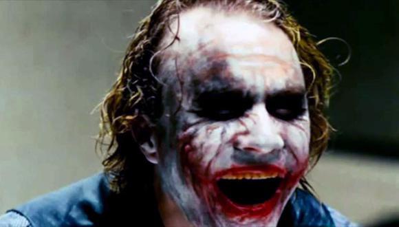 Heath Ledger interpretando al 'Joker' en 'The Dark Knight'. (Warner Bros)