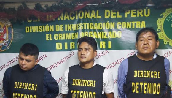 Presuntos delincuentes son investigados en la Dirincri.
