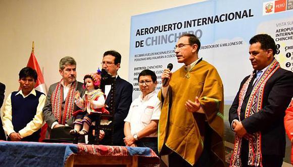 El aeropuerto de Chinchero se hará como obra pública, dijo hoy el presidente Martín Vizcarra desde el Cusco. (Foto: MTC)