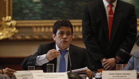 El fiscal supremo Tomás Gálvez es sindicado miembro de Los Cuellos Blancos del Puerto. (Renzo Salazar/GEC)