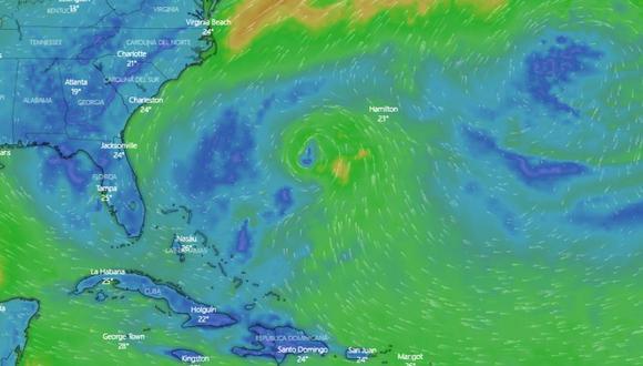 Posible formación de Andrea, la primera tormenta tropical de 2019 en el Atlántico. (Captura)