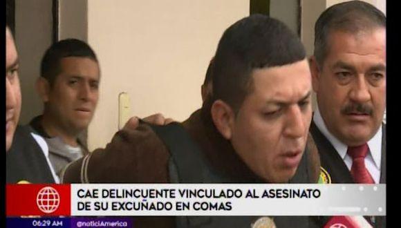 Roger Suárez Torres negó estar involucrado en el crimen del mototaxista Roberto Carlos Fernández De la Cruz. (Captura: América Noticias)
