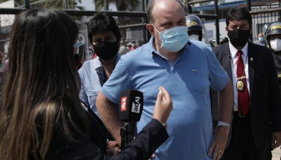 La Fiscalía tomó notas de incidentes protagonizados por López Aliaga en local de votación de Miraflores (GEC).
