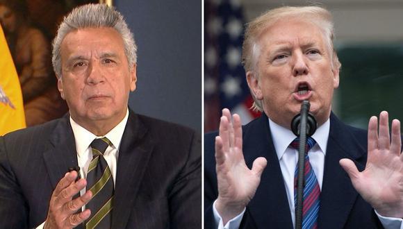 Lenín Moreno (izquierda) también adelantó que en su visita a Washington se reunirá con congresistas, empresarios y compatriotas. (AFP).
