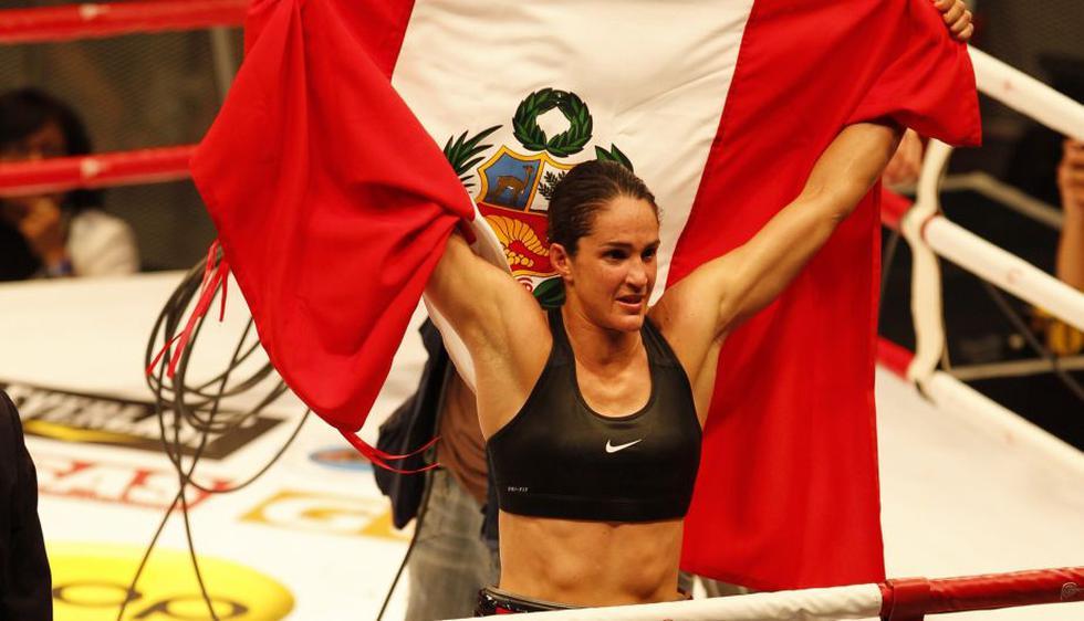 'Dinamita' nacional. Kina Malpartida le dio al Perú el primer título mundial en boxeo. El 21 de febrero de 2009, en el Madison Square Garden de Nueva York, venció por KO a la estadounidense Maureen Shea y logró así el título superpluma de la AMB. (USI)