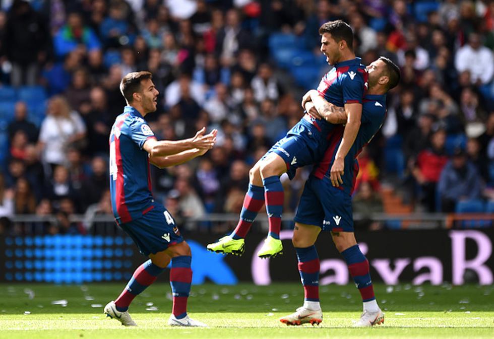 José Morales abrió la cuenta en el Santiago Bernabéu. (GETTY)