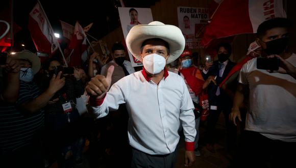 Pedro Castillo, candidato presidencial de Perú Libre, disputará la segunda vuelta de las Elecciones Generales del 2021. (Foto: Eduardo Cavero / GEC)