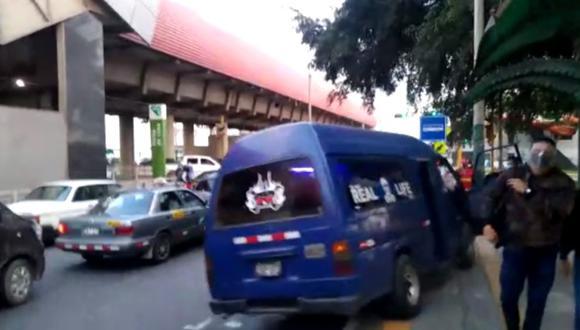 El incidente ocurrió a la altura de la estación Jorge Chávez del Metro de Lima. (Municipalidad de Surco)