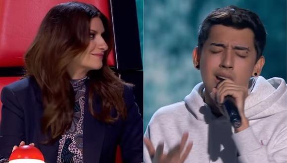 """""""La Voz"""": Peruano impresionó a Laura Pausini con interpretación de """"Earned it"""".(Foto: captura de video)"""