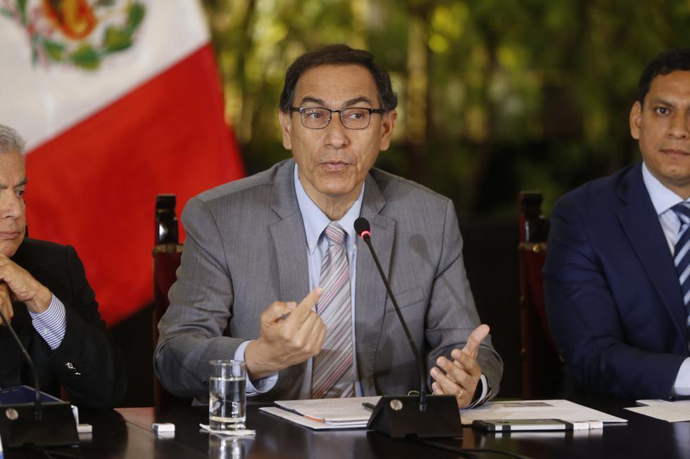 Martín Vizcarra dialogó con Andrés Oppenheimer para CNN en Español sobre la coyuntura política peruana. (Mario Zapata)