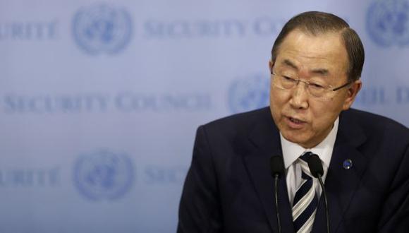 Ban Ki-moon tras exponer ante el Consejo de Seguridad de la ONU. (AP)