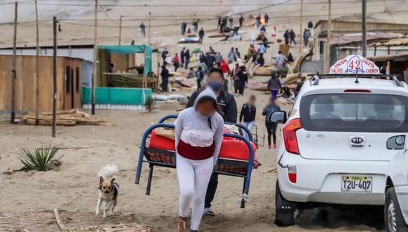Áncash: desalojan a invasores que habían levantado 450 lotes en terrenos del Estado (Foto: Municipalidad del Santa)