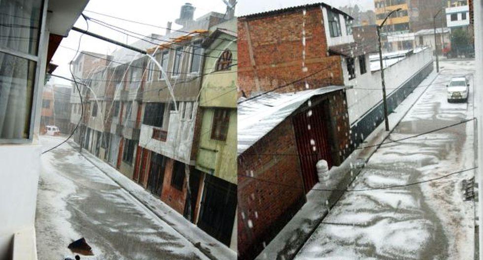 Tras la granizada, la torrencial lluvia, acompañada de tormentas eléctricas, convirtió las calles en riachuelos. (Andina)