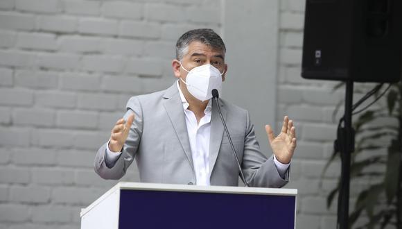 Julio Guzmán recordó que no realizó actividades de campaña por unas tres semanas por sufrir de COVID-19. (Foto: Difusión)