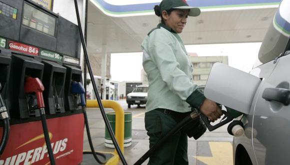 El precio de la gasolina y gasohol de 95 octanos se mantuvo invariable. (Perú21)