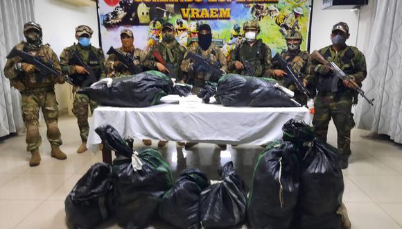 Ayacucho: Incautan 250 kilos de cocaína abandonada por presuntos narcotraficantes (Foto: CC.FF.AA)