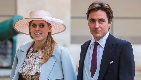 La princesa Beatrice, nieta de la reina Isabel II, se casó con Edoardo Mapelli Mozzi. (Foto: EFE/Christophe Petit Tesson)