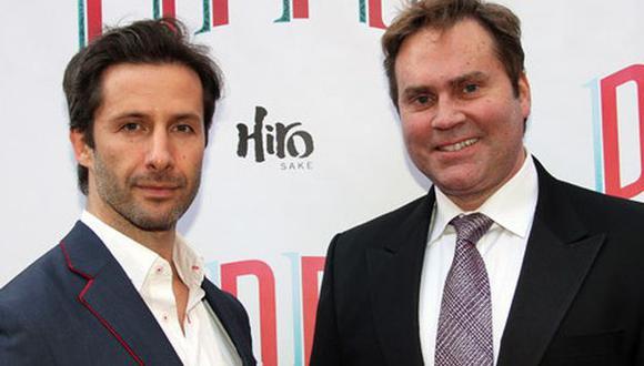 El actor Marco Zunino y Carlos Arana en el estreno de Pippin. (Lisa Pacino/Gotham)