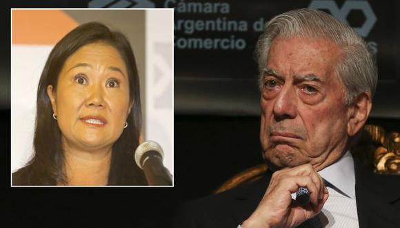 Mario Vargas Llosa expresó su respaldo a Keiko Fujimori en una columna de opinión (Efe/GEC).