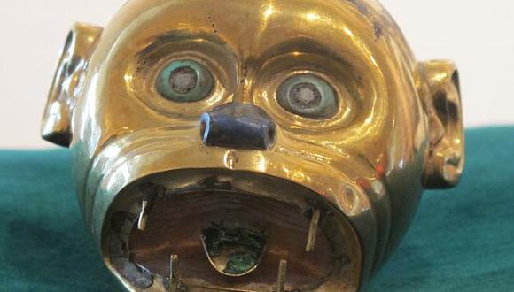 Pieza de oro se exhibía en el museo Palacio de los Gobernadores como parte de una colección privada. (Difusión)