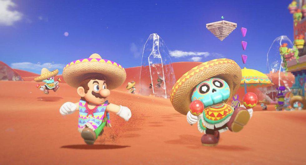 El juego destaca por los elementos incluídos de entregas anteriores, así como los diferentes retos y vestuarios de Mario que se consiguen conforme se avance en la historia. (Nintendo)
