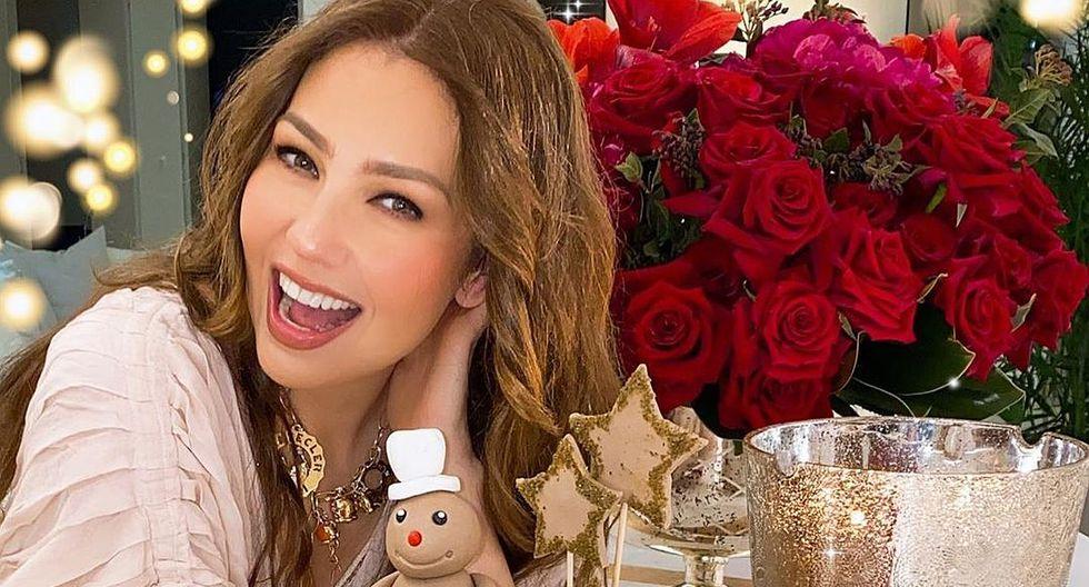 Thalía comparte fotografía del recuerdo y sorprende con su apariencia. (Foto: Instagram)