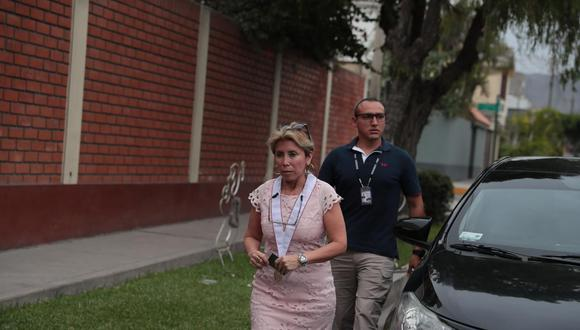 """La fiscal Sandra Castro señala que su designación es para """"tener más control"""" del caso Cuellos Blancos. (Hugo Pérez/GEC)"""