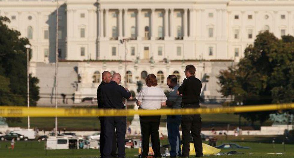 Protesta. Hombre se prendió como bonzo en el National Mall. (AFP)